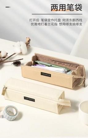 日本kokuyo國譽一米新純新款筆袋學生用大容量文具袋簡約鉛筆盒