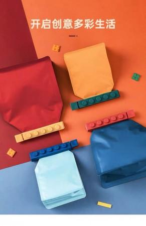 【4個裝】大號積木食品密封夾 零食包裝封口夾 廚房保鮮夾 塑料袋夾棒 食品封口神器 食品收納