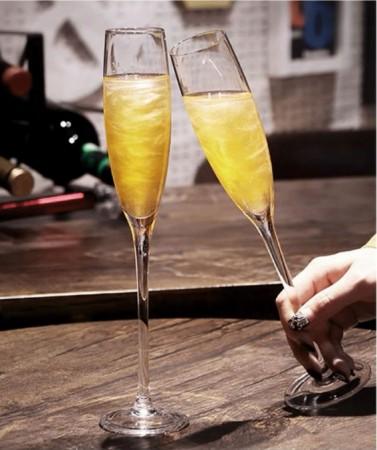 香檳杯對杯組(水晶材質、人工吹制、一體成型)團購商品