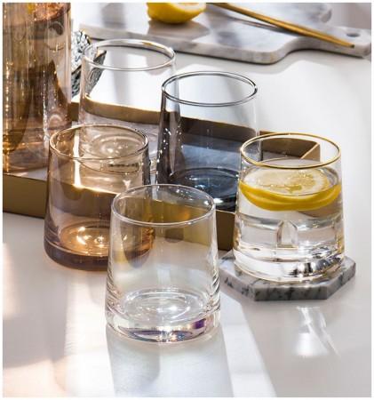 北歐風INS炫彩威士忌玻璃杯(預購商品)