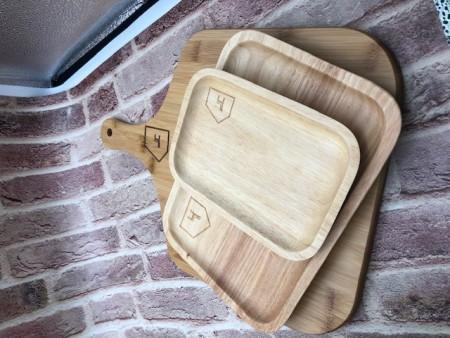 【北歐屋子】北歐屋子LOGO雜貨進口櫸木日式托盤方形