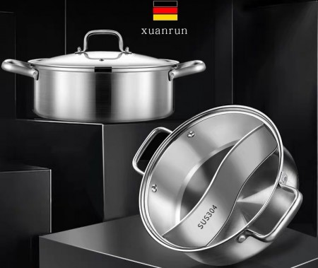 不銹鋼複合底鴛鴦鍋(預購商品)