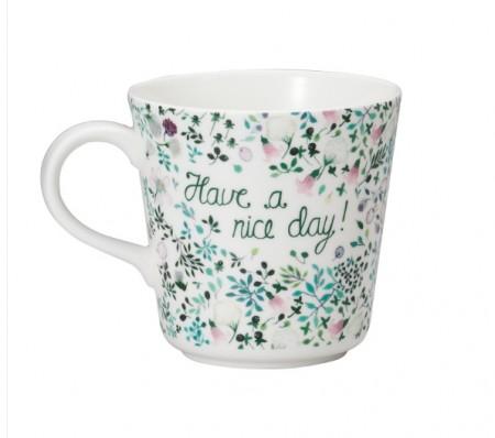 日本原產NARUMI鳴海 Anna Emilia安娜艾米利亞系列骨瓷馬克杯水杯(Have a nice day)
