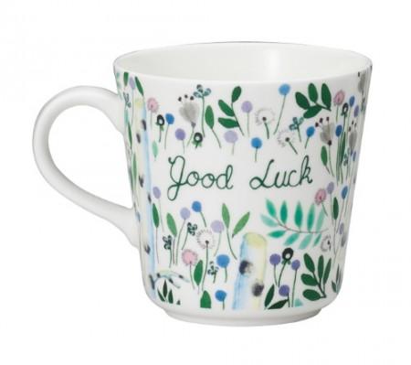 日本原產NARUMI鳴海 Anna Emilia安娜艾米利亞系列骨瓷馬克杯水杯(Good Luck)