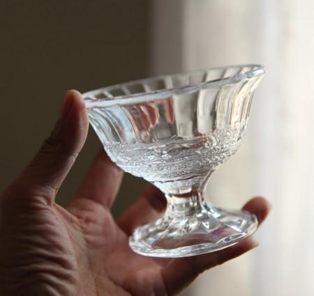 浮雕高腳冰淇淋 優格玻璃杯(預購商品)