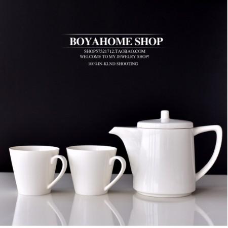 北歐風格簡約主義整套花茶具組~下午茶一壺二杯組