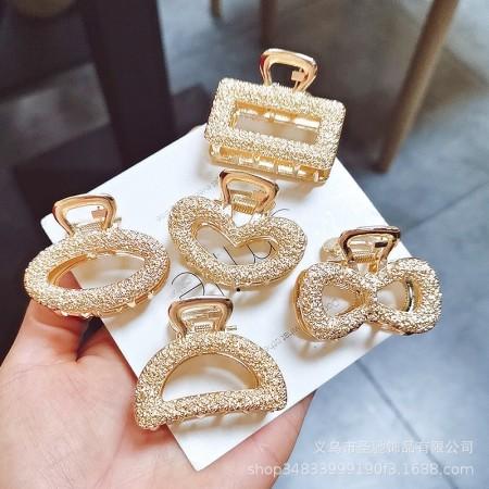 蝴蝶結髮抓夾韓國電鍍合金髮飾,歐美時尚百搭款(團購商品)