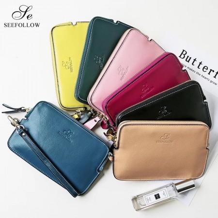 手拿包2020新款錢包,小牛皮材質共有五色可以選擇(團購集貨)