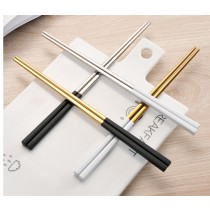 北歐304金色筷子(白色柄)