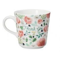 日本原產NARUMI鳴海 Anna Emilia安娜艾米利亞系列骨瓷馬克杯水杯(THANK YOU)