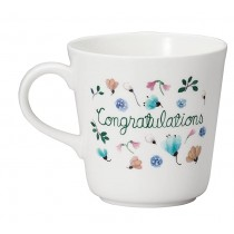 日本原產NARUMI鳴海 Anna Emilia安娜艾米利亞系列骨瓷馬克杯水杯(Congratulations)