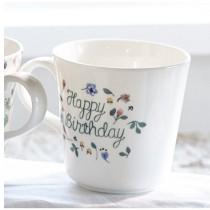 日本原產NARUMI鳴海 Anna Emilia安娜艾米利亞系列骨瓷馬克杯水杯(Happy Brithday)