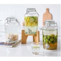 釀酒玻璃瓶,帶水龍頭加厚密封。釀梅、水果酒專用罐(團購商品)
