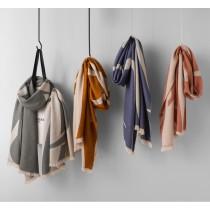 撞色流蘇羊毛圍巾 披巾(預購團購商品)