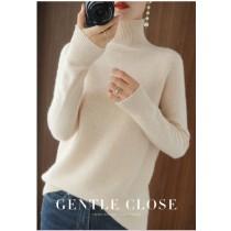套頭高領羊絨毛衣,秋冬新款氣質洋氣寬鬆針織衫純色保暖打底衣(預購商品)