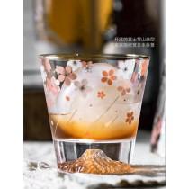 櫻花富士山INS風玻璃杯(預購商品)