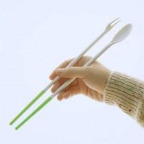 日式硅膠三合一多功能廚房料理隔熱防滑筷(匙、叉)預購商品