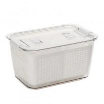 #新款日式冰箱保鮮瀝水雙層密封盒(預購商品)