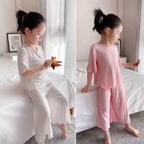 空氣睡衣,兒童莫代爾羅紋家居服(每周五結單)