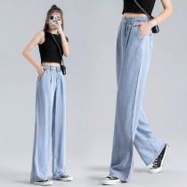 2021-春夏天絲牛仔直筒闊褲(預購商品)