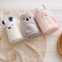 兔子珊瑚絨浴巾毛巾組柔軟吸水(團購商品)