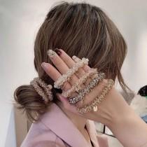 水晶吊飾髮圈(1組/4入)團購商品