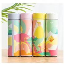 馬卡龍色創意糖果單車系列保溫溫度杯(四色選擇)團購商品