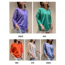 純棉T恤2020新款韓版寬鬆百搭秋季七分袖上衣(預購團購商品)