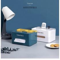 雙色款多功能收納衛生紙巾盒(預購團購商品)