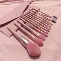 12支裸粉色化妝刷北歐INS彩妝工具組(含粉色刷包)預購團購組