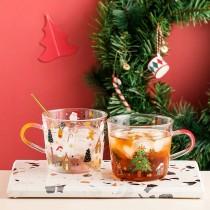 Cybil聖誕系列大容量帶刻度玻璃杯(預購團購商品)