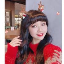 聖誕髮飾系列ins可愛鹿角松果髮夾(預購團購商品)11/30止