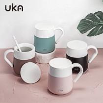 北歐INS陶瓷馬克帶蓋保溫杯(預購團購商品)