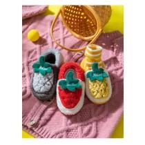 秋冬兒童水果造形保暖防滑毛毛鞋(預購團購商品)