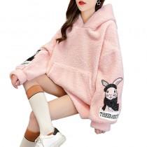 可愛減齡羊羔毛衛衣(預購商品)