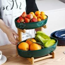 北歐風格雙層陶瓷水果盤(預購商品)1/15結單(免運費)
