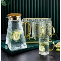 高顏質輕奢玻璃錘紋冷水壺系列組(預購中)