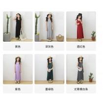 春夏女童莫代爾韓版無袖背心長裙家居服 (預購商品)